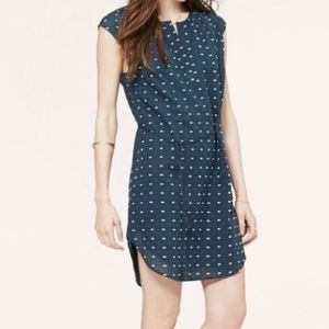 Loft Embroidered Dot Shirtdress